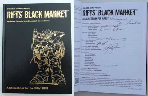 Rifts Black Market Gold Hardcover